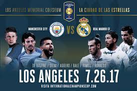 Real Madrid Manchester Los Angeles Tickets Boletos Coliseum