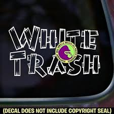White Trash Funny Vinyl Decal Sticker Gorilla Decals