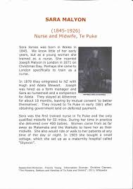 Sara Malyon - Midwife | Western Bay of Plenty Community Archives