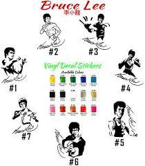 Bruce Lee Vinyl Decal Sticker Car Window Wall Martial Art Kung Fu Sport Legend Ebay