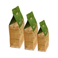 kraft paper bag with clear window and