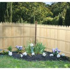 Barrette 6 Ft H X 8 Ft W 4 In Moulded Stockade Fence Panel 73000408 The Home Depot