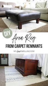 diy rug hack with carpet remnants my