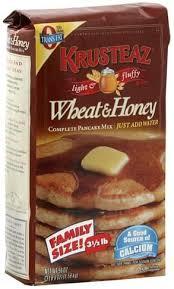 krusteaz wheat honey plete pancake