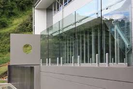stainless steel glass railing glass