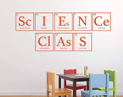 Amazon Com Science Decor For School Classroom Chemistry Wall Decal For Teachers Periodic Chart Vinyl Decoration Small Large Sizes Handmade