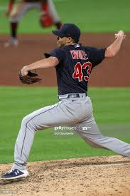 Cleveland Indians starting pitcher Aaron Civale delivers a pitch to... News  Photo - Getty Images