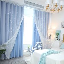 Fresh Max Blackout Curtain Hollow Star Curtain With Sheer Curtain Kids Room Curtain One Panel Kids Room Curtains Living Room Decor Curtains Frozen Girls Room