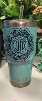 Mandala Decal Rtic Vinyl Decal Tumbler Decal Personalized Decal Monogram Rtic Decal Free Shipping By S Yeti Decals Monogram Decal Yeti Tumbler Decal
