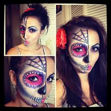 sugar skull makeup half face tutorial