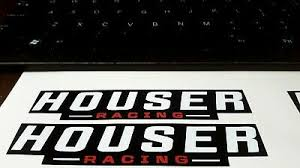 Houser Racing Suspension Swing Arm Nerf Bars High Quality Stickers Decal 2x Ebay