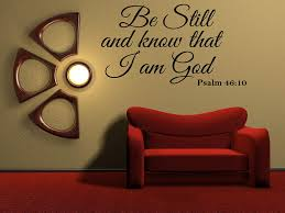 Amazon Com Vinyl Decal Be Still And Know That I Am God Psalm 46 10 Vinyl Wall Religious Home Decor Quote Arts Crafts Sewing