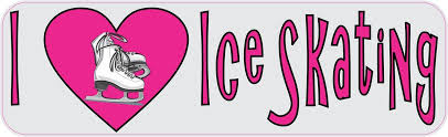 10in X 3in I Heart Ice Skating Love Sports Bumper Sticker Vinyl Window Decal Stickertalk