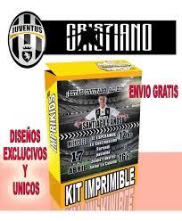 Kit Imprimible Cristiano Ronaldo Juventus Invitaciones Y