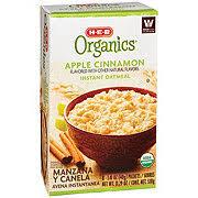 organics apple cinnamon instant oatmeal
