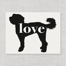 Car Window Vinyl Decal Sticker Mini Goldendoodle Labradoodle Love Script Font