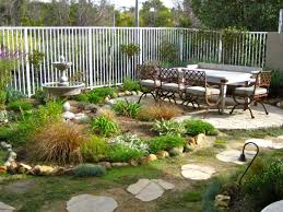 Small Yard Design With Cozy Dining Set And Mini Garden For Outdoor Front Landscaping Ideas Diy Yards Home Elements Style Patio Patios Fire Pit Designs Deck Crismatec Com