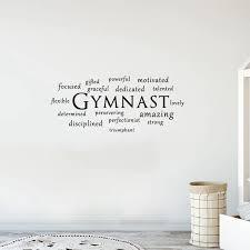 Gymnast Wall Decal Sports Gymnastics Quote Wall Art Vinyl Stickers Bedroom Decoration Wall Stickers Aliexpress