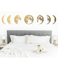 Amoon Phases Wall Decal Moon Phases Decor Modern Decals Moon Wall Decal Moon Phase Wall Art Custom Size 13 12 Wall Stickers Aliexpress