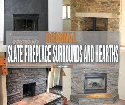 slate fireplace surrounds and hearths