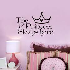 The Princess Sleeps Here Wall Stickers For Living Rooms Bedroom Window Decoration Decals Art Decal Vinyl Home Decor Wall Sticker Stickers Forsticker For Living Room Aliexpress