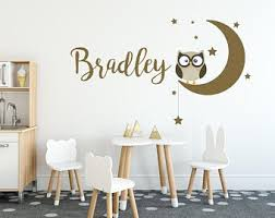 Owl Wall Decal Etsy