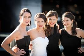 my bridal party get their makeup done