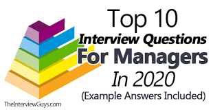 top 10 interview questions for managers