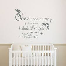 Girls Name Wall Decals Once Upon A Time Decal Quote Vinyl Sticker Nursery T40 Ebay