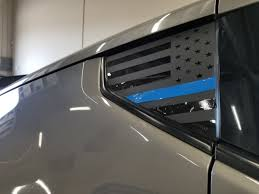 Thin Blue Line Flag Quarter Window Decal 370z Jdmfv Fanatic Wraps