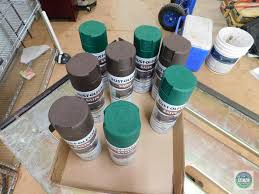 Lot Rust Oleum Satin Spray Paint Green Brown Heavy Construction Equipment Construction Materials Auctions Online Proxibid