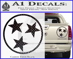 Tennessee Tri Star Decal Sticker A1 Decals