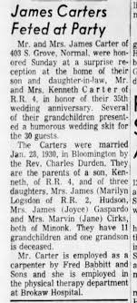Uncle James and Aunt Ada Carter 35th Anniversary - Newspapers.com