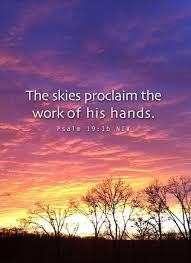 the skies proclaim the work of his hands picture quotes
