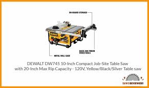 Dewalt Dw745 Table Saw Review Saws Reviewers