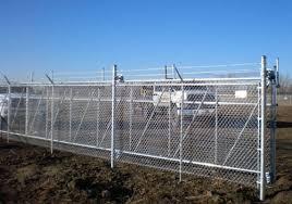 Phoenix Fence Chainlink Commercial Industrial Cantilever Slide Gates