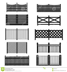 Silhouette Black Fence Icon Set Vector Stock Vector Illustration Of Construction Plank 90858353