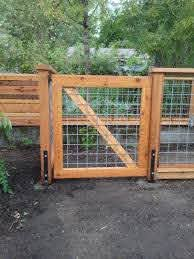Hog Panel Fence Gate Fence Design Cedar Gate Cattle Panel Fence