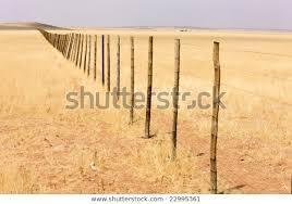 Wooden Fence Middle Namibian Desert Africa Transportation Stock Image 22995361