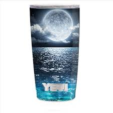 Skin Decal For Yeti 20 Oz Rambler Tumbler Cup Giant Moon Over The Ocean Itsaskin Com