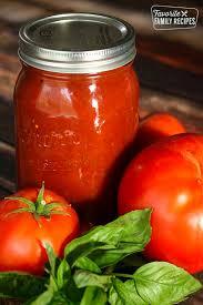 homemade canned spaghetti sauce