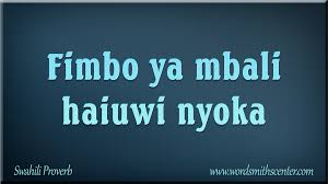 fimbo ya mbali haiuwi nyoka swahili proverb methali swahili ow