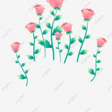 وردي زهور أوراق خضراء ورود مرسومة باليد حديث ملونة Png وملف Psd