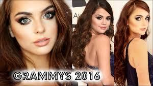 selena gomez grammys 2016 makeup hair