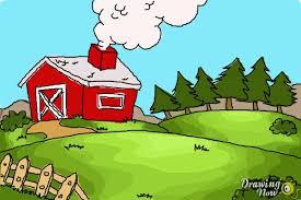 How To Draw A Farm Drawingnow