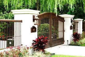 Cool Wrought Iron Fence Gate Design Idea Brown Decoratorist 93196