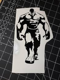 The Hulk Vinyl Decal Vinyl Sticker Vinyl Wall Decal Car Decal Etsy