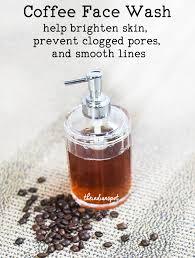 diy coffee face wash brighten and