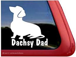 Amazon Com Dachsy Dad Dachshund Dog Vinyl Window Decal Window Decal Sticker Automotive