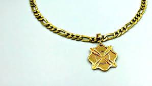 custom firefighter maltese cross necklace